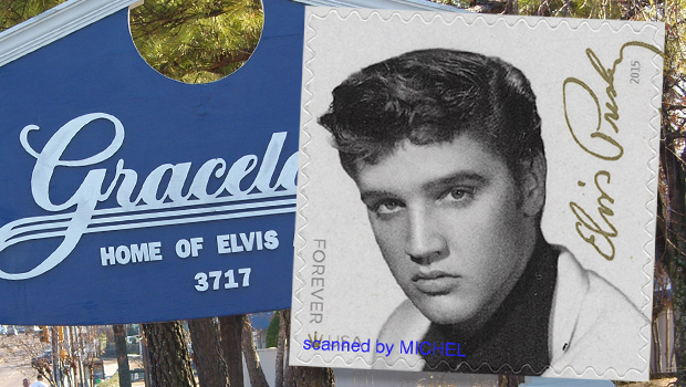 Briefmarke USA Elvis Presley