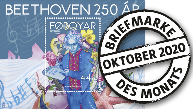 Psychedelic-Virtuose in Nationaltracht. Beethoven als Briefmarke des Monats Oktober