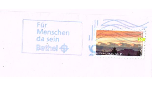 Briefmarken Matrixcode Blaue Tinte 2021